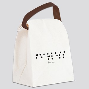 Braille-Fearless Canvas Lunch Bag