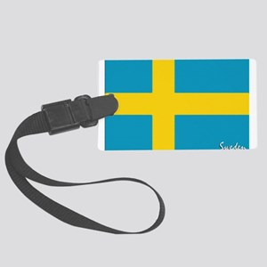flag-sweden Large Luggage Tag