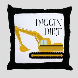 Digging Dirt Throw Pillow