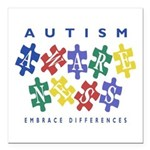Autism Awareness Square Car Magnet 3