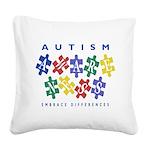 Autism Awareness Square Canvas Pillow
