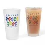 Autism Awareness Drinking Glass