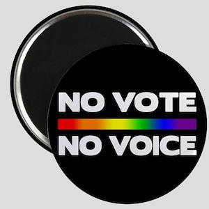 No Vote No Voice (Rainbow) Magnet