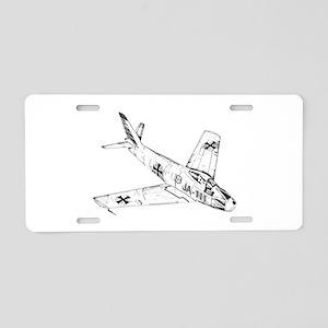 Sabre Aluminum License Plate