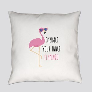 Embrace Your Inner Flamingo Everyday Pillow