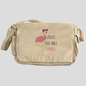 Embrace Your Inner Flamingo Messenger Bag
