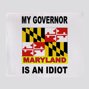 IDIOT GOVERNOR Throw Blanket