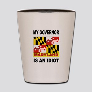 IDIOT GOVERNOR Shot Glass
