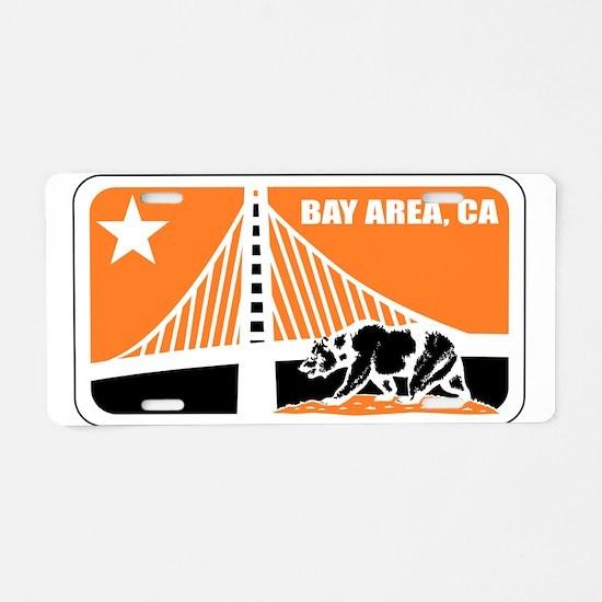 major league bay area orange Aluminum License Plat