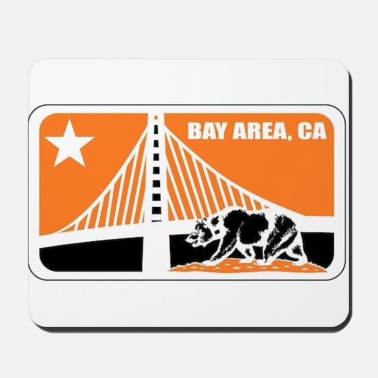 major league bay area orange Mousepad