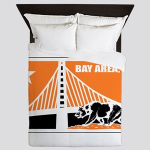 major league bay area orange Queen Duvet