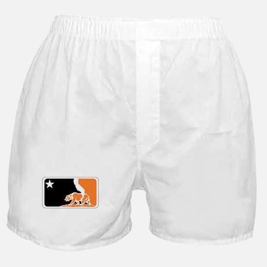 major league bay area orange plain Boxer Shorts