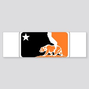 major league bay area orange plain Bumper Sticker