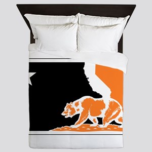 major league bay area orange plain Queen Duvet