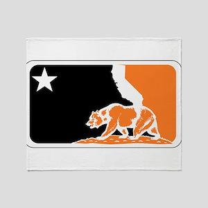 major league bay area orange plain Throw Blanket