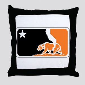 major league bay area orange plain Throw Pillow