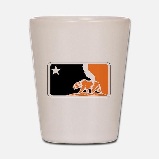 major league bay area orange plain Shot Glass