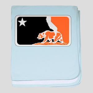 major league bay area orange plain baby blanket
