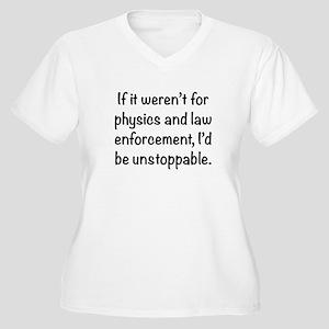 I'd be unstoppable Women's Plus Size V-Neck T-Shir