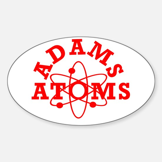 Adams Atoms Oval Decal