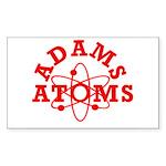 Adams Atoms Rectangle Sticker