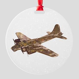 Vintage B-17 Round Ornament