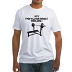 My psychiatrist Couch Fitted T-Shirt
