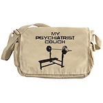My psychiatrist Couch Messenger Bag