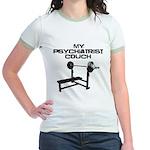 My psychiatrist Couch Jr. Ringer T-Shirt