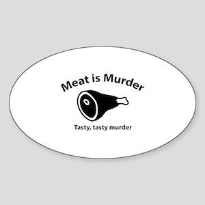 Meat is Murder Sticker (Oval)
