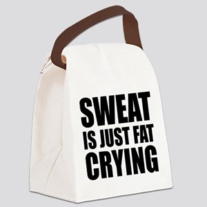 Sweat Is Just Fat Crying Canvas Lunch Bag