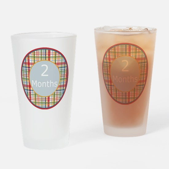 2 Month Plaid Milestone Drinking Glass