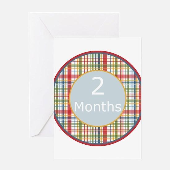 2 Month Plaid Milestone Greeting Card