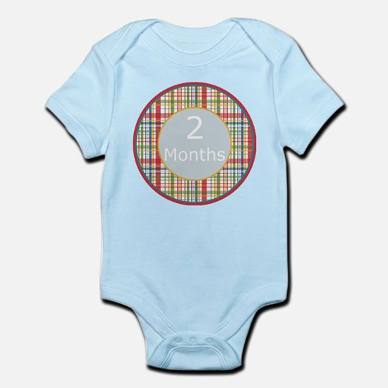 2 Month Plaid Milestone Body Suit