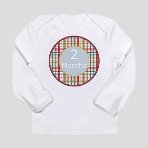 2 Month Plaid Milestone Long Sleeve T-Shirt
