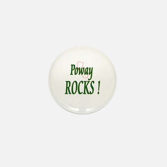 Poway Rocks ! Mini Button