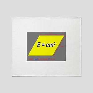 E=cm2 Throw Blanket