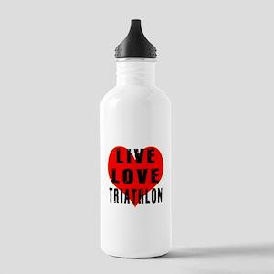 Live Love Triathlon Stainless Water Bottle 1.0L