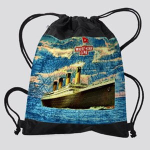 RMS Titanic Drawstring Bag