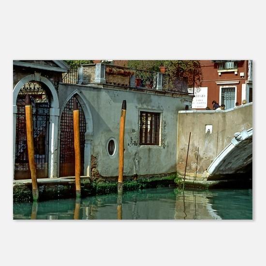 Orange Poles in Venice Postcards (Package of 8)