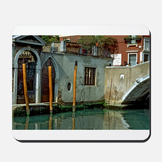 Orange Poles in Venice Mousepad