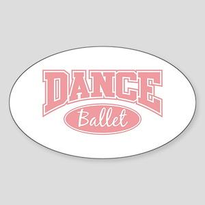 Ballet Oval Sticker