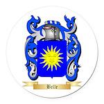 Belle Round Car Magnet