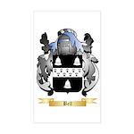Bell (English) Sticker (Rectangle)