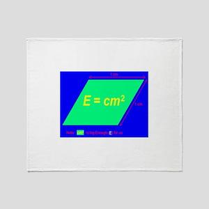 E=cm2 (BL) Throw Blanket