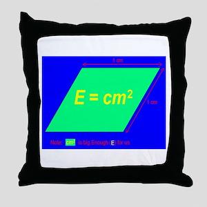 E=cm2 (BL) Throw Pillow