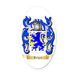 Belgin Oval Car Magnet