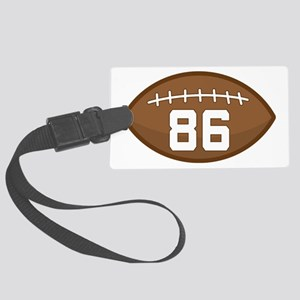 Football Player Number 86 Large Luggage Tag