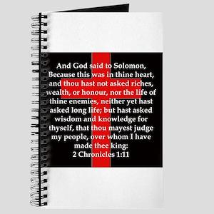 2 Chronicles 1:11 Journal