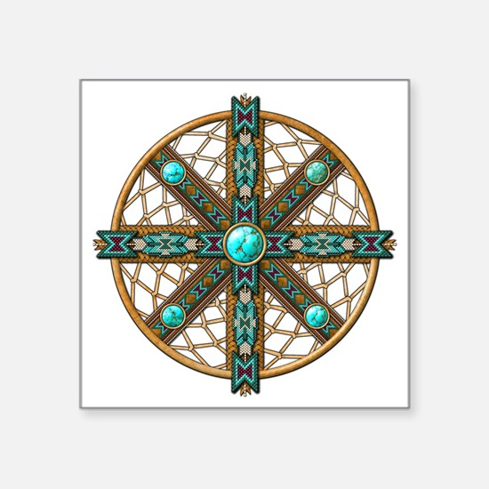 Native American Beadwork Mandala Sticker